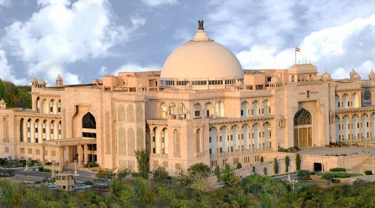 rajasthan assembly, rajasthan assembly walkout, rajasthan bjp mlas walkout, ashok gehlot, rajasthan cm, india news