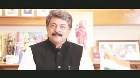 non-veg food, Rajendra Trivedi, Gujarat Assembly Speaker, Shree Narayana Cultural Mission, ahmedabad news, indian express news