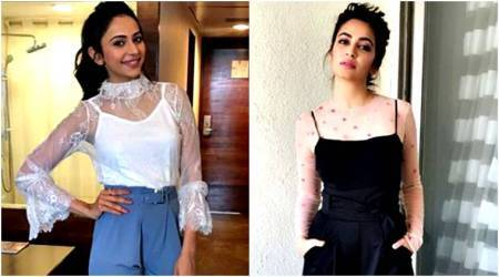 Rakul Preet Singh and Kriti Kharbanda show us different ways to wear semi-sheer outfits