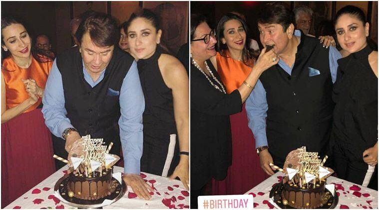 kareena kapoor and karisma kapoor with father randhir kapoor
