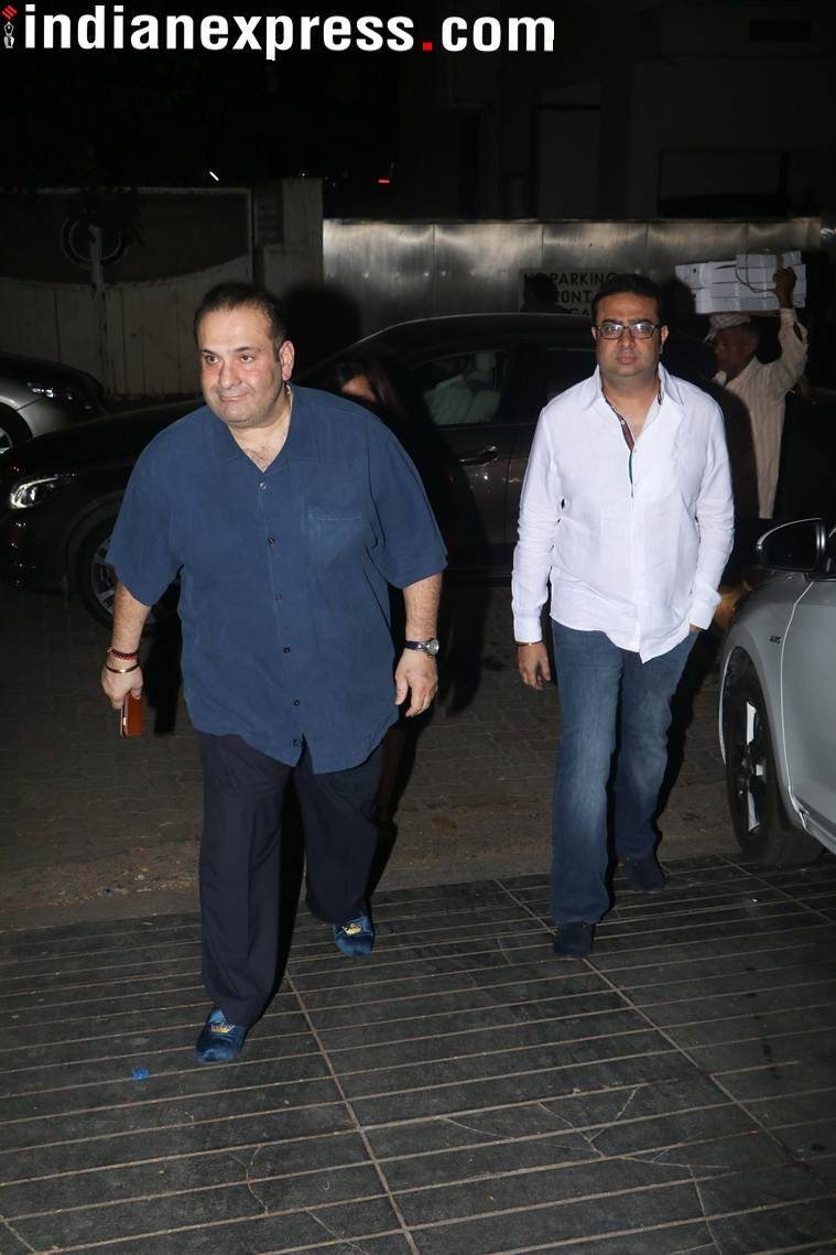Rajiv Kapoor at brother Randhir Kapoor's birthday party.