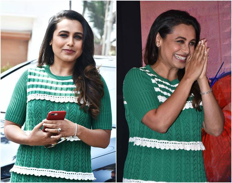 Rani Mukerji, Hichki movie, Hichki, Hichki song launch, Rani Mukerji fashion, Rani Mukerji style, Rani Mukerji images, Rani Mukerji pictures, Rani Mukerji latest photos, Rani Mukerji latest news, Rani Mukerji updates, celeb fashion, bollywood fashion, indian express, indian express news