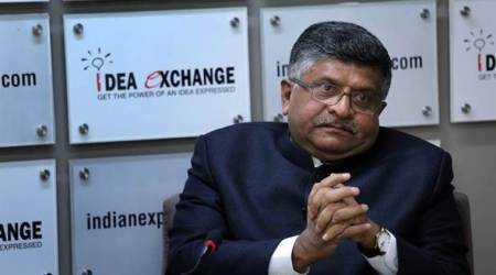 Law Minister Ravi Shankar Prasad. (Express photo)
