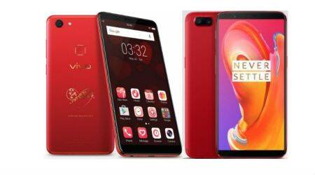 Valentine's Day 2018: OnePlus 5T to Vivo V7+, here's a list of 'Red' phones