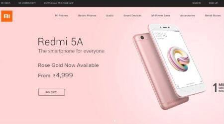 Xiaomi Redmi 5A Rose Gold colour option announced, sale on Flipkart, Mi.com