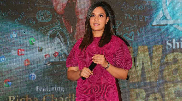 Richa Chadha at Wanna be Free song launch