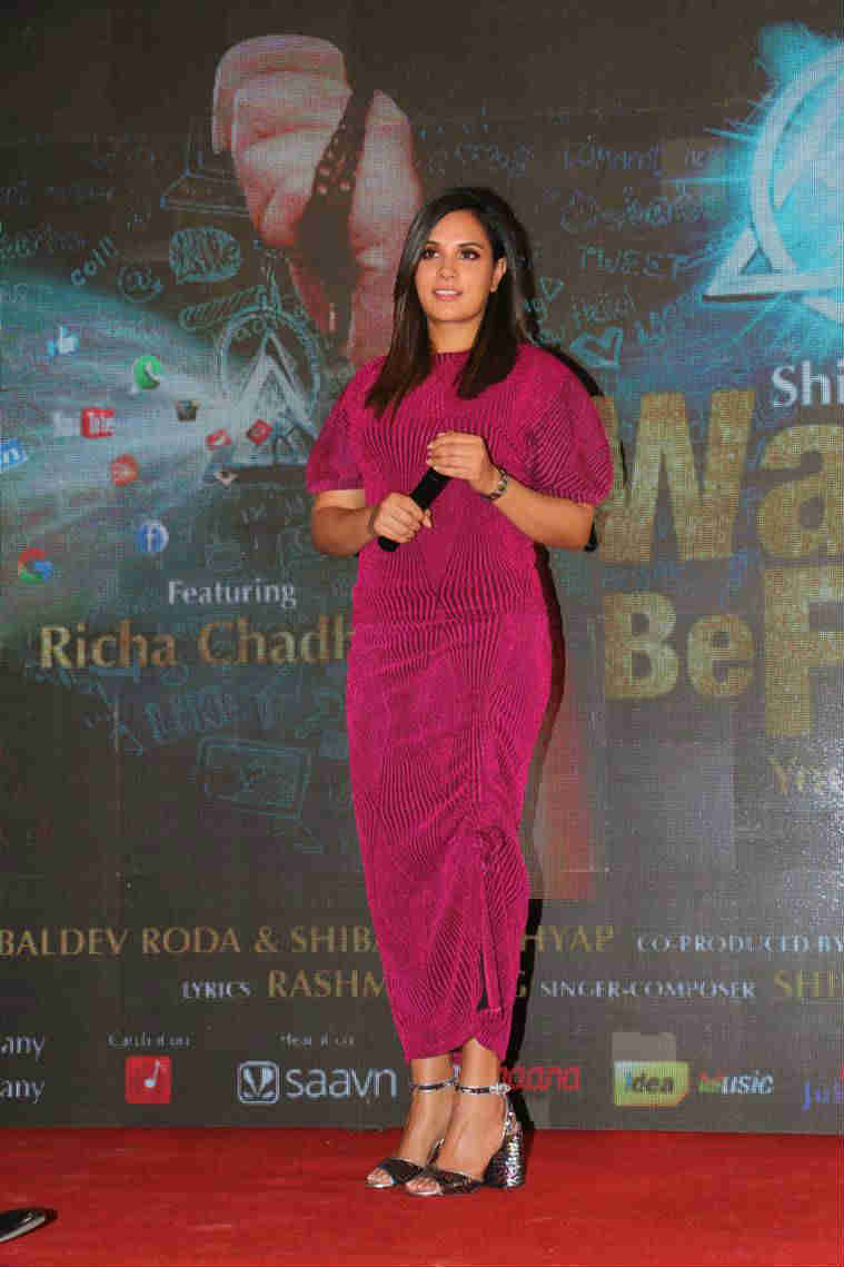 Richa Chadha during the launch