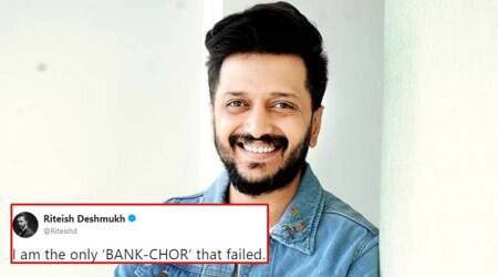 Riteish Deshmukh calls himself the only 'bank chor' who failed, Twitterati think it's a dig at Nirav Modi-PNB fraud case