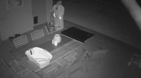 VIDEO: Thieves enter house through a dog door