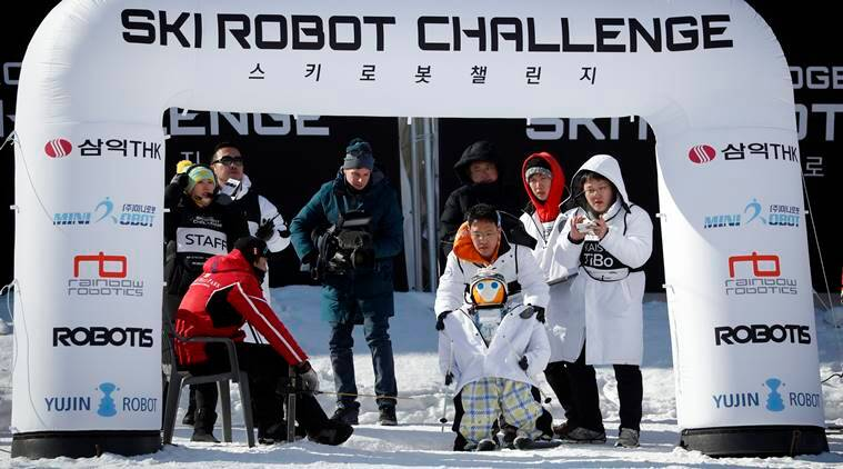 robot at winter olympics