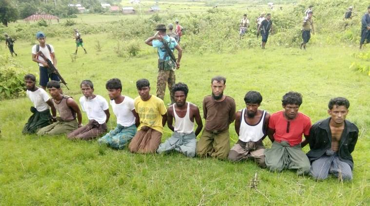 Myanmar forces and Buddhist villagers torched Rohingya homes, then killed