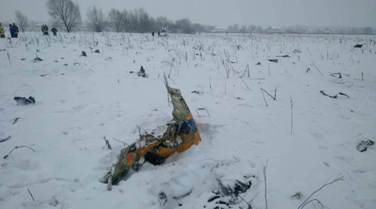 Russia plane crash, plane crash in Russia, Ukraine state-run manufacturing company Antonov, Antonov, Moscow aircraft crash, Saratov Airlines, Saratov Airlines crash, Moscow crash, world news, latest world news, indian express, indian express news