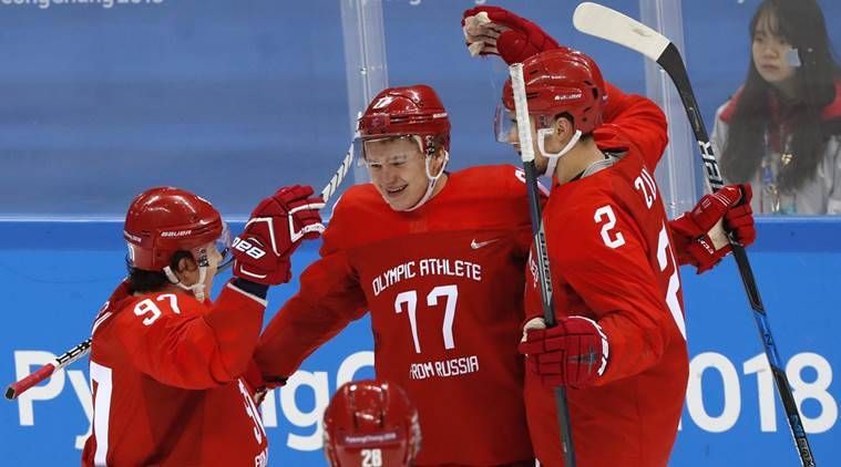 Russians rout Slovenia 8-2 in Olympic hockey