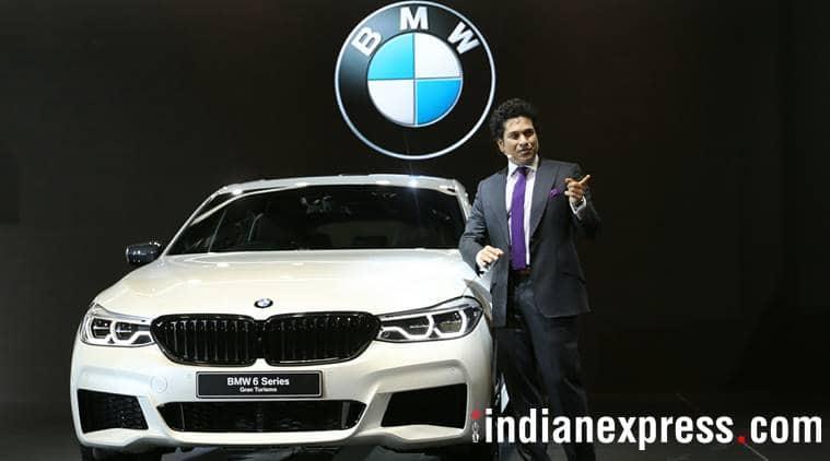 Sachin Tendulkar at Auto Expo 2018