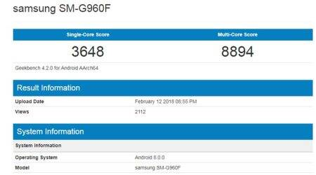 Samsung Galaxy S9 scores for Exynos 9810 processor variant spotted onGeekBench