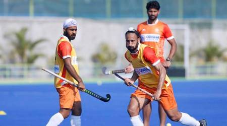 Sardar Singh in training for Indian hockey team
