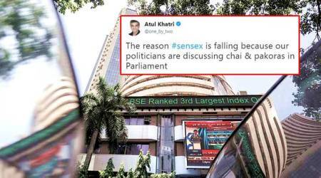 As stock market tumbles, SENSEX jokes bullish on Twitter