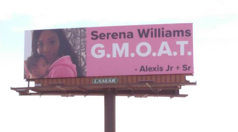 Billboards Outside Palm Springs Call Serena Williams 'Greatest Momma Of All Time'