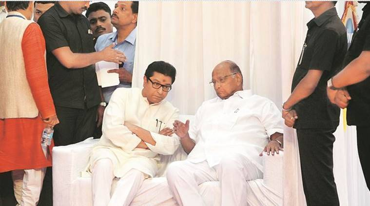 Raj Thackeray interviews Sharad Pawar in Pune