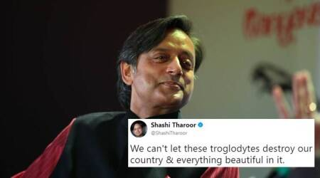 Shashi Tharoor opens English classes for 2018 with 'troglodyte', responding to BJP MP's comment on 'Taj Mahal'