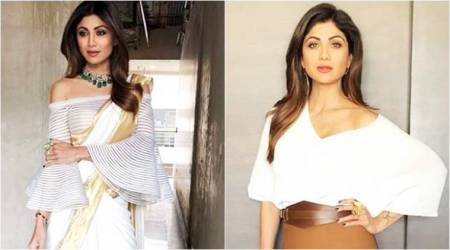 Kasavu with a twist or skirt over dress: Which Shilpa Shetty Kundra style twist do you like better?