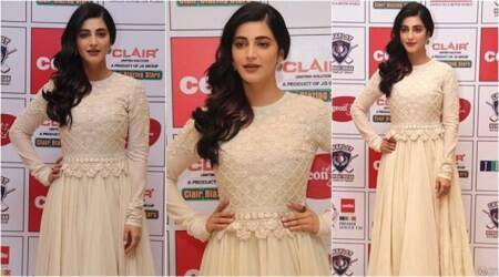 Monochromes are chic but Shruti Haasan's outfit is a disappointment