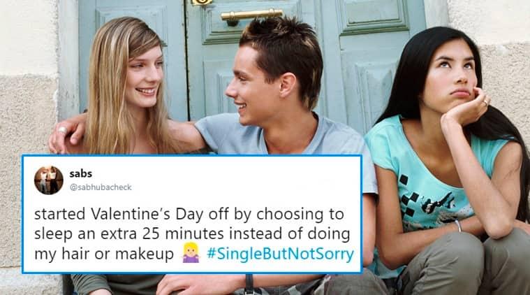 singlebutnotsorry, #singlebutnotsorry, valentine's day, valentine's day tweets, valentine's day single tweets, valentine's day plans, valentine's day wishes, indian express, indian express news