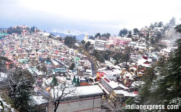 Snowfall, Snowfall in Shimla, Shimla snowfall, Srinagar snowfall, Snow fall photos, Snow fall pictures, India news, indian express news