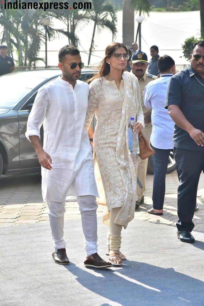 Sonam Kapoor at Sridevi condolence meeting