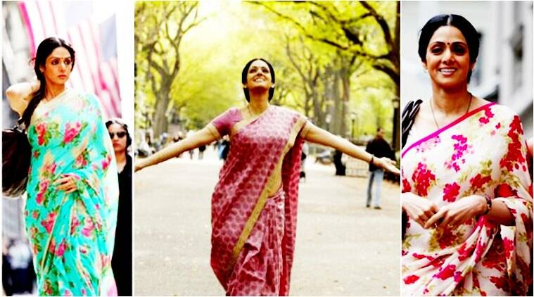 Sridevi in Sabyasachi english vinglish