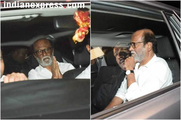 rajinikanth at anil kapoor's house