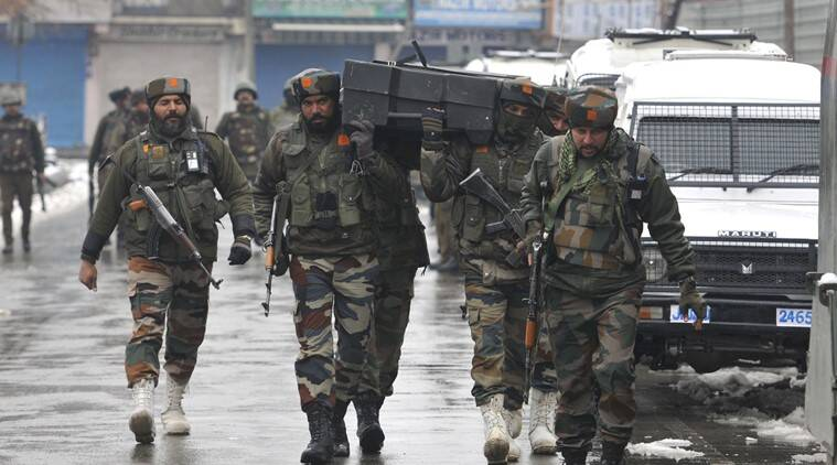 Firing is still underway in the Karan Nagar area of Jammu and Kashmir's Srinagar