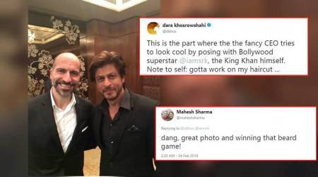 'Winning that beard game': Shah Rukh Khan met Uber CEO and Twitterati lost their calm