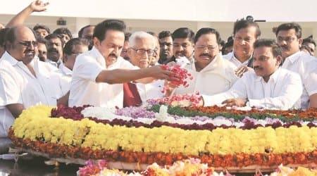 Tamil Nadu, MK Stalin, DMK President, tamil nadu protests, tamil nadu 1965 protests, Tamil Nadu protests, India news, Indian Express news