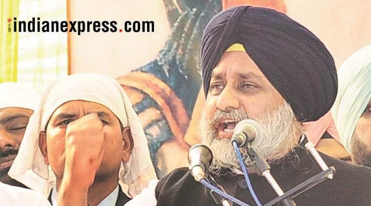 sukhbir singh badal, sad president, shiromani akali dal, punjab, indian express