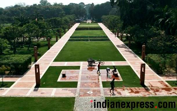 Sunder Nursery, Sunder Nursery new Delhi, central park delhi, Sunder Nursery Nizamuddin, Vice-President Venkaiah Naidu Sunder Nursery, Sunder Nursery pictures, Sunder Nursery places to visit in Delhi, places to visit in Delhi, best places in Delhi, Indian express