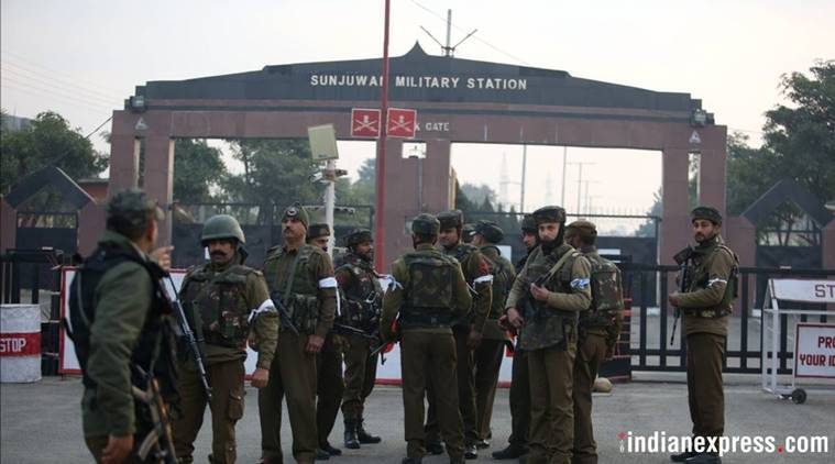 Jammu, Army camp attack, Sunjwan army camp, jammu terror attack, army camp attacked, Jaish e Muhammad, Jammu and Kashmir, Militant attack in Jammu and Kashmir, Indian Express