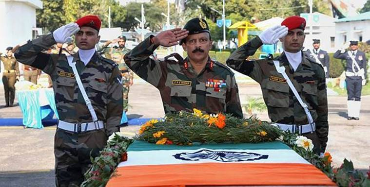 sunjuwan army camp attack, jammu, tributes paid to slain army men, sunjuwan attack, army jawan martyred in jammu, indian army pays tribute to slain jawans, jammu and kashmir
