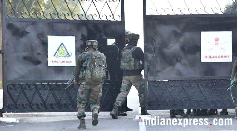 Sunjwan attack photos, sunjwan encounter images, army encounter images, army camp attack pics, jammu kashmir, indian army pictures, sunjwan latest pics, indian express