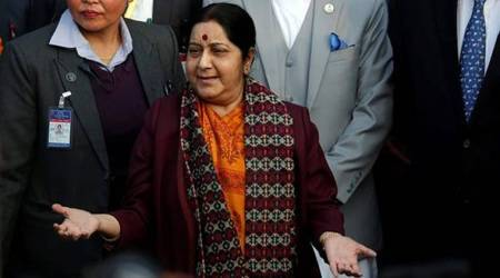 Swaraj says 'no fixed agenda' for talks with top Nepal leaders