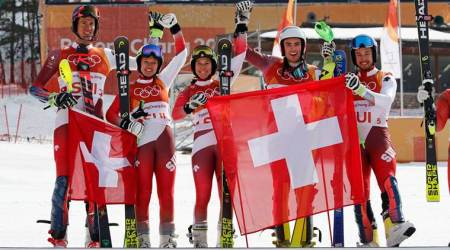 Winter Olympics 2018: Switzerland pip Austria to win inaugural team gold in Alpine team event