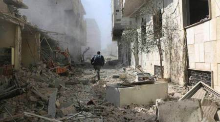 syria attack, damascus, syria civil war, syrian government, russian airstrikes, northern syria, ghouta, syria deaths, world news, indian express