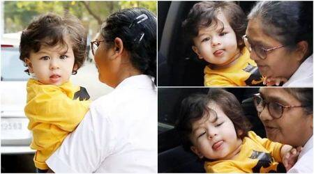 Taimur Ali Khan's million-dollar expressions on his way to a kids' gym will make your day