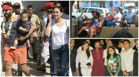 Taimur Ali Khan, Kareena Kapoor and Saif Ali Khan are in Rajasthan; see photos, videos