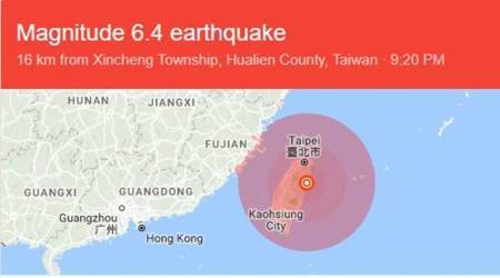 At least two dead, over 100 injured after powerful earthquake strikes Taiwan