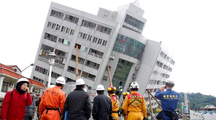 Taiwan rescuers search building for seven missing in earthquake