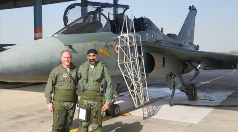 US Air Force Chief Goldfein flies Tejas