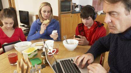 Ignore your phone while dining with lovedones