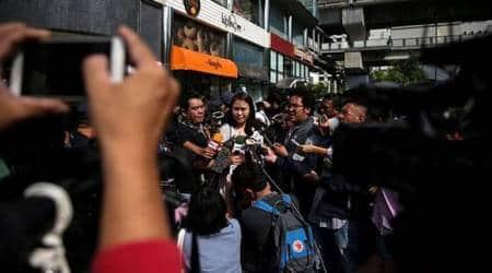 thai rights group news conference, thailand, thai junta, thai press conference, thai junta ban, FCCT, nuttaa mahattana