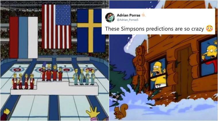 winter olympics, olympics 2018, the simpsons, PyeongChang 2018, PyeongChang simpsons prediction, simpsons predictions, simpsons us curling olympics, simpson squirrel snowboarding, viral news, twitter buzz, indian express